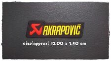 AKRAPOVIC Sew On Patch Iron Embroidered Exhaust Motorcycles Racing Motor Sport