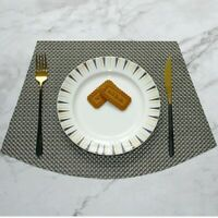 Round Placemats Set of 6 Heat Resistant Waterproof Non-Slip for Kitchen Table