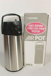 Zojirushi  2.2 Liter Air Pot Stainless Steel Beverage Dispenser AASB-22S NOS