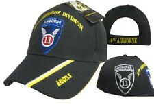 U.S. Army 11th Airborne Division Angels Black Shadow Embroidered Cap Hat