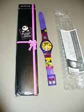 "Tim Burton's ""Nightmare Before Christmas"" Pumpkin Wrist Watch -New In Box"