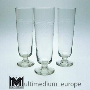 3 antike Jugendstil Weizen Bier Gläser geschliffen antique beer glass 🌺🌺🌺🌺🌺