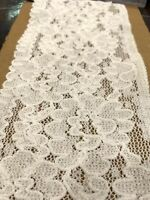 Cream Vintage Floral Lace Trim - Stretch Scallop Edge Elastic 110 Mm per Mtr