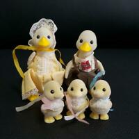 Sylvanian Families Duck and Child Calico Critters Epoch JAPAN Used