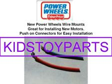 Pair NEW! Power Wheels Fisher Price Motor Wires w/ Push Connectors for #7 or #7R