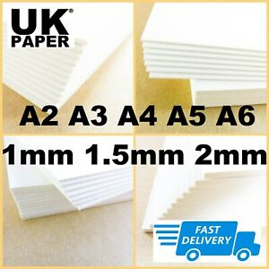 CARD GREYBOARD CRAFT SHEETS 1- 2mm THICK PAPER RECYCLED A4 A3 A2 CARDBOARD MOUNT