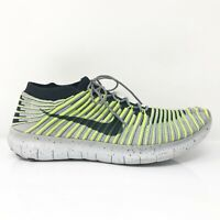 Nike Mens Free RN Motion Flyknit 834584-007 Gray Running Shoes Lace Up Size 10