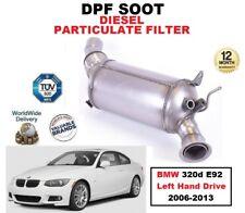 DPF Diesel Filtro de partículas de hollín para BMW 320d E92 unidad de mano izquierda 2006-2013