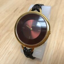 Vintage Pierre Lannier Lady Gold Tone Large Analog Quartz Watch Hour~New Battery