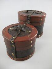 Koffer Dekokoffer Truhe 2er Set Antikoptik Leder Vintage Oldtimer 325.018