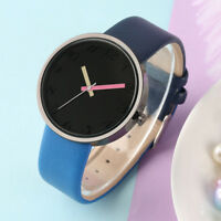 Simple Women Analog Quartz Wrist Watch PU Leather Band Stylish Ladies Watches