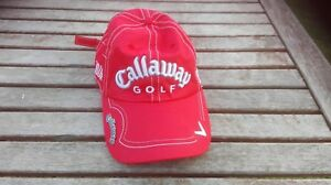 BARELY USED CALLAWAY  RED ADJUSTABLE ADULT GOLF CAP   FT5 VERY GOOD CONDITION