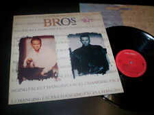 """Bros """"Changing Faces"""" LP inner Columbia – CBS 468817 1"""