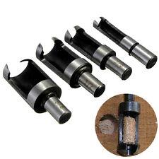 4pcs 10mm Shank Carbon Steel Wood Work Plug Cutter Drill Bits Set Cutting Tool