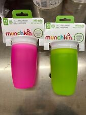 2 Pink And Green MUNCHKIN - Miracle 360 Sippy Cup - 10 oz. (296 ml)