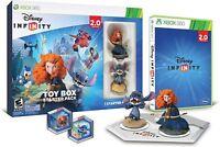 NEW Xbox 360 Disney Infinity 2.0 Toy Box Starter Pack Game Figures Base Discs