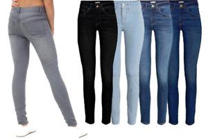 Womens Skinny Fit Jeans Slim Stretch Ladies Denim Pants Girls Trousers UK 6- 30