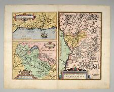 Venuxini Comitatus Gallia Ortelius 1598 Orig Kupferkarte Map France Frankreich