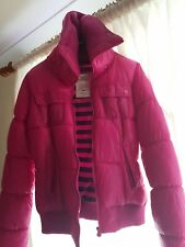 bershka winter puff jacket medium dark pink