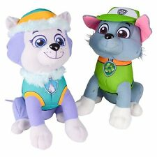 "Paw Patrol Plush Stuffed Toy Set Everest & Rocky 10"" Doll Kids Boys Girls Toy"