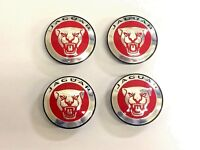 GENUINE JAGUAR RED GROWLER ROAD WHEEL BADGE SET - C2D49639