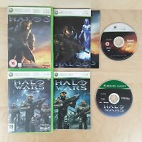 HALO 3 & HALO WARS GAME BUNDLE XBOX 360 PAL COMPLETE WITH MANUALS FREE P&P