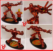 Statue IRON MAN Hyperchild Marvel Diorama Marvel ironman red Chrome 100 ex!!!