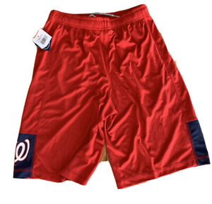 Washington Nationals MLB Boy's Red Athletic Drawstring Shorts Sz XL (18/20) NWT