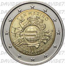 REPUBBLICA SAN MARINO - 2 EURO 2012 - 10° ANNIVERSARIO MONETE E BANCONOTE EURO_