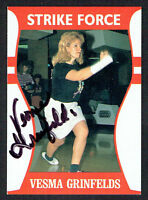 Vesma Grinfelds #38 signed autograph auto LPBA Strike Force Bowling Trading Card