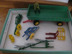 Vintage Britains Die cast Farm implements spares repair Trailer Plough job lot