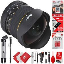 Oshiro 8mm f/3.5 Fisheye Lens for Canon Digital SLR Cameras w/ 16GB 20PC Bundle