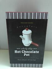 Williams-Sonoma Porcelain Hot Chocolate Pot w/ Recipe-BRAND NEW WITH BOX