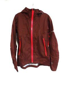 COLUMBIA TITANIUM Maroon Hooded Zip Front Water Resistant Jacket Size M