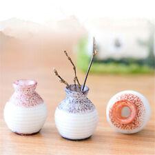 3Pcs Mini Vase Garden Ceramic Pottery Flower Pot Plant Office Ornament 2.5X2.1CM