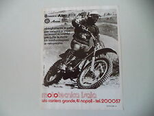 advertising Pubblicità 1975 MOTOTECNICA ISAIA NAPOLI e MOTO AIM CROSS