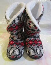 VERA BRADLEY Intarsia PENGUINS Slippers Cozy Booties Slippers Size 5 - 6 Small