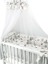 Wiegenset Waldfreunde 6-tlg.Baby Bettausstattung Bettset Himmel Nestchen Zudecke
