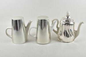k65i01- 3x Porzellan/ Keramik Kaffeekanne mit Thermohaube