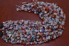 950+ PCS ASSORT COLOR DRILLED GEM STONE ROCK CHIPS BEADS 1 POUND #BD-15A