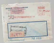 1958 Madagascar airmail  Metered Cover French Chinese Bank