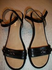 WOMENS LADIES CASUAL DRESS SHOES SANDALS SZ 9.5M STRICTLY COMFORT LEATHER WEDGE