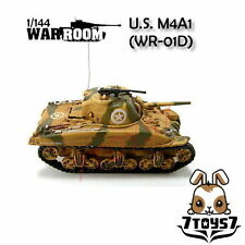 War Room 1/144 M4A1 US Sherman Tank #D Prepainted Pre-assembled WWII Bid WR001D