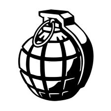 HAND GRENADE ARMY WEAPON CAR DECAL STICKER