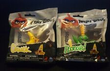 """2 Angry Birds Movie Collectible 2"""" Figures  NEW IN BAGS HTF RARE Leonard AA1"""