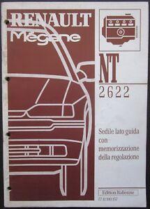RENAULT MEGANE I manuale riparazione sedile con memorizzazione regolazione 1996