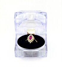 TruGlo .86 TCW .47 Ct Ruby .39 Ct Diamonds 10k Yellow Gold Ring 2.8 Grams Sz 7.5