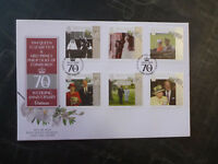 2017 ISLE OF MAN QEII 70tH WEDDING ANNIV. SET OF 6 STAMPS FDC FIRST DAY COVER