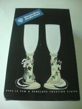 Warner Brothers Studio Store PEPE LE PEW & PENELOPE Wedding Glasses Flutes - NEW