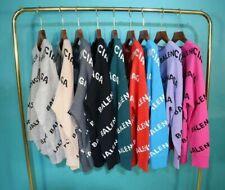 11Colors Men women Crew Neck Pullover Loose Jumper knitting Sweater Tops UK